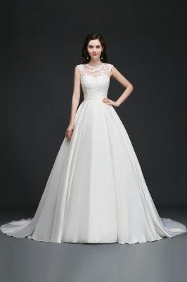 ELIZABETH | A-line Sleeveless Floor-length Chiffon Lace Wedding Dresses_6