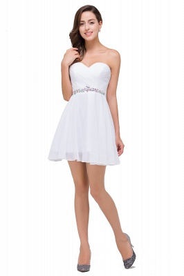 A-line Sweetheart Short Prom Dresses with Beadings_4