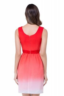 ADRIANA   A-line Jewel Red Bridesmaid Dress_3