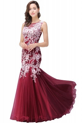Long Lace Mermaid Sleeveless Maxi Prom Dress_2