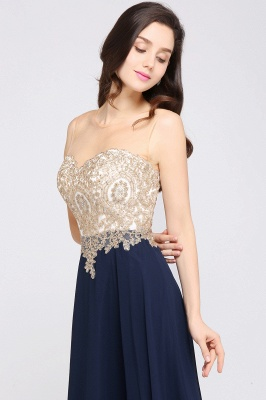 Cheap Sheer Tulle A-line Chiffon Beads Lace Appliques Sleeveless Long Evening Dress in Stock_9