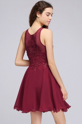 Cheap Burgundy A-line Homecoming Dress with Lace Appliques in Stock_10