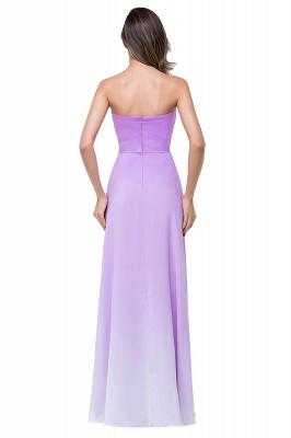 ADRIENNE | A-line Strapless Chiffon Bridesmaid Dress_3