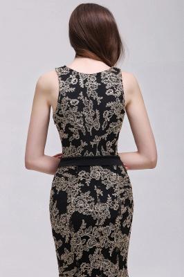 Sheath Round Neck Floor-Length Lace Evening Dresses_7