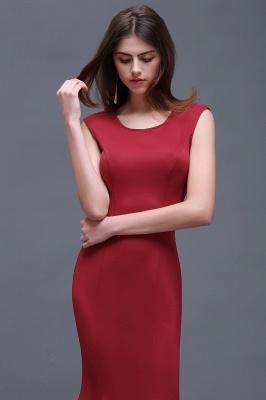 Sheath Scoop Floor-Length Elegant Evening Dresses_4