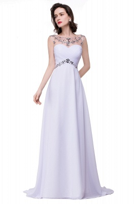 Cheap A-line Sweetheart Chiffon Evening Dress With Crystal in Stock_7