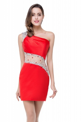 Cheap Cheap Crystal Beading One-shoulder Short Mermaid Prom Dress in Stock_8