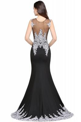 ARIYAH   Mermaid Scoop Black Pretty Evening Dresses with Appliques_4