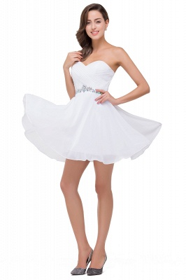 A-line Sweetheart Short Prom Dresses with Beadings_6