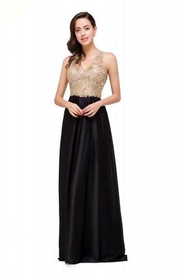 EMMALINE | A-Line Floor-Length V-neck Appliques Prom Dresses_10