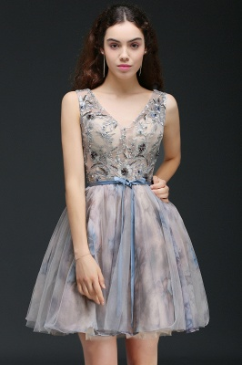 A-line Short Cute Homecoming Dress With Appliques_5