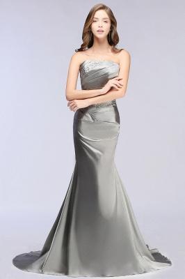 CELESTE | A-line Strapless Satin Party Dress_6