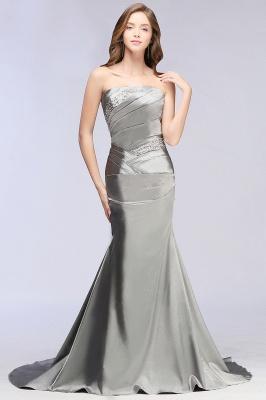 CELESTE | A-line Strapless Satin Party Dress_5