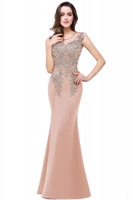 ADDISYN | Mermaid Floor-length Chiffon Evening Dress with Appliques_1