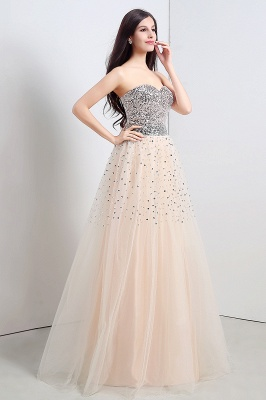 CECELIA   A-line Strapless Tulle Party Dress With  Sequined_6