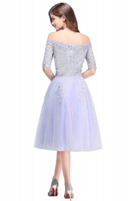 Cheap A-line Short Sleeves Tulle Lace Flower Girl Dress in Stock_3