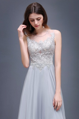 Cheap Gorgeous Lace Chiffon Long Prom Dress in Stock_5