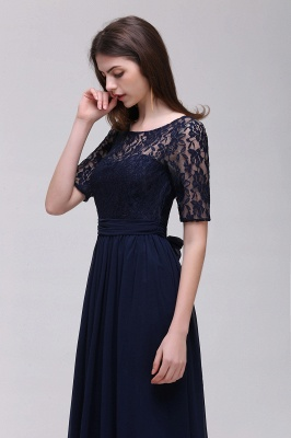 Cheap Half-Sleeve Lace Long Chiffon Evening Dress in Stock_13