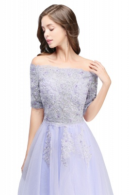 Cheap A-line Short Sleeves Tulle Lace Flower Girl Dress in Stock_5