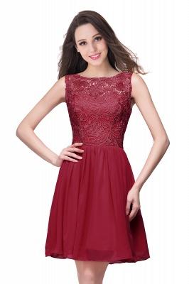 Cheap Short Chiffon Homecoming Dresses | Affordable Knee Length Chiffon Lace Party Dresses_1