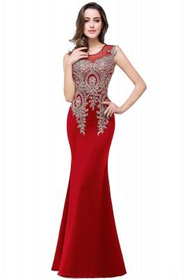 ADDISYN | Mermaid Floor-length Chiffon Evening Dress with Appliques_2
