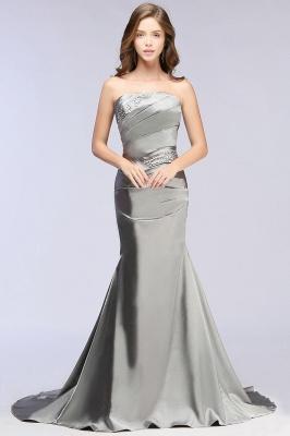 CELESTE | A-line Strapless Satin Party Dress_7