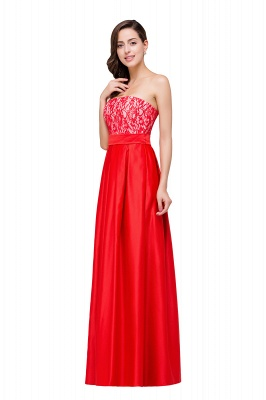 EVERLY | A-line Sleeveless Sweetheart Floor-Length Red Chiffon Prom Dresses_5