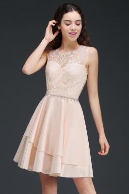 A-line Short Cute Homecoming Dress With Lace_7