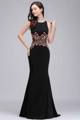 ELAINE | Mermaid Floor-length Sleeveless Prom Dresses with Embroidery-flowers_5