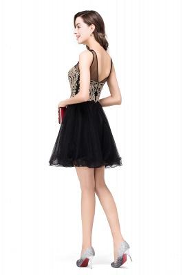 ESTRELLA | A-line Crew Short Sleeveless Appliques Prom Dress_13