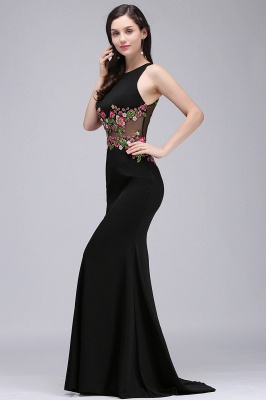 ELAINE | Mermaid Floor-length Sleeveless Prom Dresses with Embroidery-flowers_2