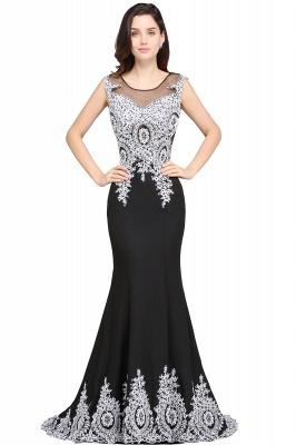 ARIYAH   Mermaid Scoop Black Pretty Evening Dresses with Appliques_3