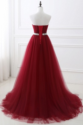 Cheap modest sweetheart sleeveless beading a-line prom dress in Stock_10