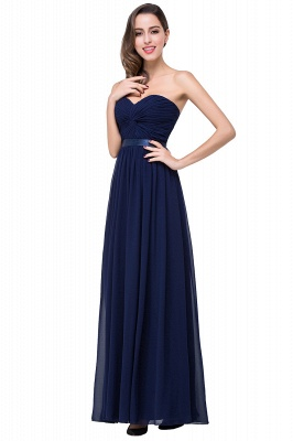 ADELINA | Simple A-line Strapless Chiffon Bridesmaid Dress with Draped_7