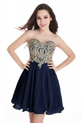 Sweetheart Mini Cheap Appliques Short 2019 Homecoming Dresses_6