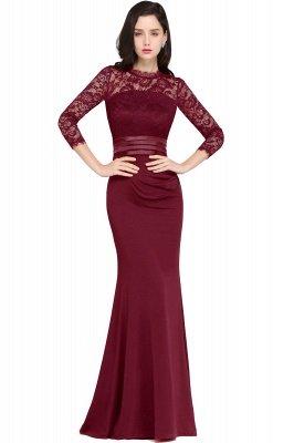 ARIANNA | Sheath High Neck Black Elegant Evening Dresses with Lace_2