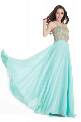Cheap Women's Strapless Embroidery Beaded Prom Formal Dress in Stock_7
