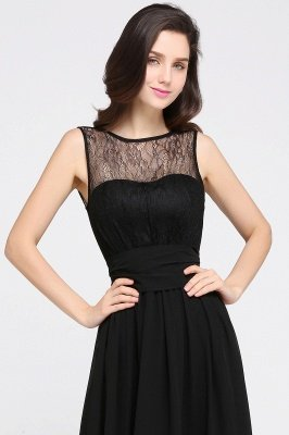 CHARLOTTE  Floor-length Black Chiffon Sexy Prom Dresses | Black Evening Dresses_9