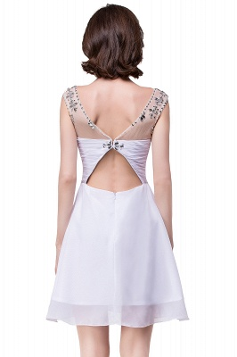 Cheap A-line Jewel Chiffon Party Dress With Crystal in Stock_7