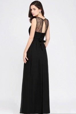 CHARLOTTE  Floor-length Black Chiffon Sexy Prom Dresses | Black Evening Dresses_10