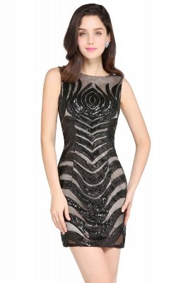 AMALIA | Sheath Short Black Sexy Cocktail Dresses_2