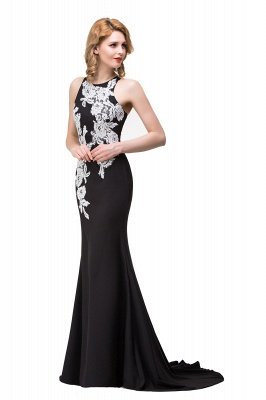 Cheap Mermaid Evening With Appliques For Women Formal Long Prom Dress in Stock_8