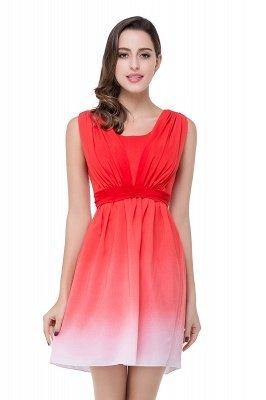 ADRIANA   A-line Jewel Red Bridesmaid Dress_2