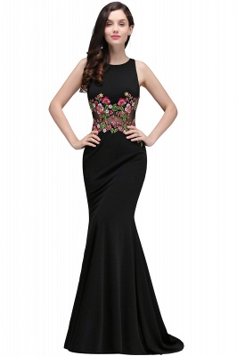 ELAINE | Mermaid Floor-length Sleeveless Prom Dresses with Embroidery-flowers_3