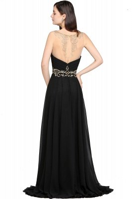A-line Scoop Chiffon Prom Dress With Lace_3