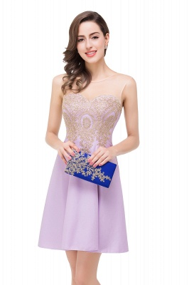 Cheap Short Applique Sleeveless Prom Homecoming Dress in Stock_12