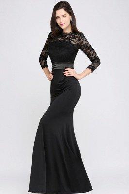 ARIANNA | Sheath High Neck Black Elegant Evening Dresses with Lace_9