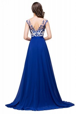 EMILIE | A-Line Floor-Length Sleeveless Chiffon Prom Dresses with Lace-Appliques_3