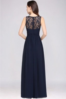 CHELSEA | Cheap Long Lace Prom Dress | Afforable Chiffon Lace Evening Dress_12