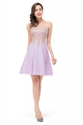 Cheap Short Applique Sleeveless Prom Homecoming Dress in Stock_10